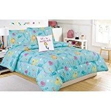 mermaid-sea-life-pattern-4pc-comforter-set Best Mermaid Bedding and Comforter Sets