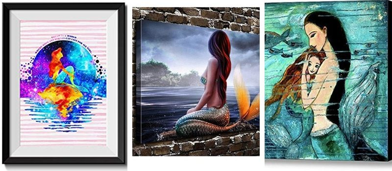 Mermaid Wall Art and Mermaid Wall Decor
