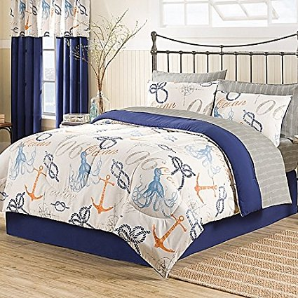nautical-8pc-comforter-set Best Anchor Bedding and Comforter Sets