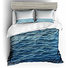 ocean-waves-coastal-waters-duvet-cover-set Best Surf Bedding and Comforter Sets