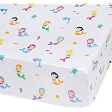 olive-kids-mermaid-fitted-crib-sheet Best Mermaid Bedding and Comforter Sets