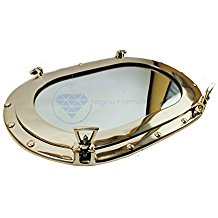 oval-brass-porthole-mirror Best Porthole Mirrors For Nautical Homes