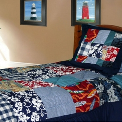 patchwork-surf-quilt-comforter Surf Decor & Surfboard Decorations