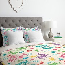 patterned-mermaid-duvet-cover-set Best Mermaid Bedding and Comforter Sets