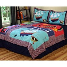 pirate-treasure-quilt Best Pirate Bedding and Comforter Sets