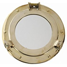 polished-brass-porthole-mirror Best Porthole Mirrors For Nautical Homes