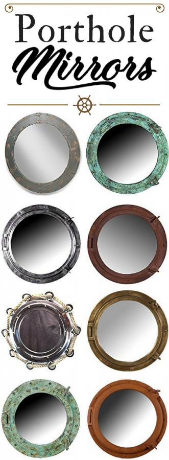 porthole-mirrors Best Porthole Mirrors For Nautical Homes