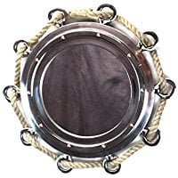 rope-nautical-porthole-mirror Best Porthole Mirrors For Nautical Homes