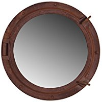 rust-finish-porthole-mirror Best Porthole Mirrors For Nautical Homes