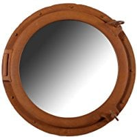 rusty-finish-porthole-mirror Best Porthole Mirrors For Nautical Homes