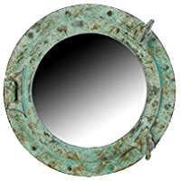 shipwreck-nautical-home-decor-mirror Best Porthole Mirrors For Nautical Homes