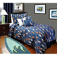 surfboard-bedding-for-boys Best Surf Bedding and Comforter Sets
