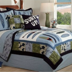 surfs-up-quilt Surf Decor & Surfboard Decorations