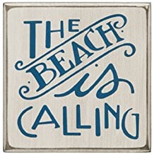 the-beach-is-calling-wooden-sign 100+ Wooden Beach Signs and Wooden Coastal Signs