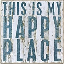 this-is-my-happy-place-wooden-sign 100+ Wooden Beach Signs and Wooden Coastal Signs