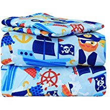 twin-pirate-bed-sheet-set Best Pirate Bedding and Comforter Sets