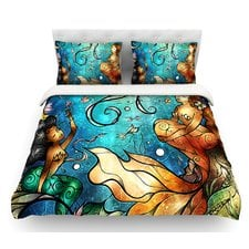 under-the-sea-mermaid-duvet-cover Best Mermaid Bedding and Comforter Sets