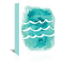 watercolor-aqua-waves-painting The Best Beach Paintings You Can Buy