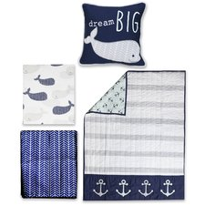 whale-4pc-crib-bedding-set Best Surf Bedding and Comforter Sets