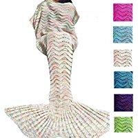 white-crochet-mermaid-tail-blanket Mermaid Bedding Sets and Mermaid Comforter Sets