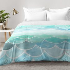 wonder-forest-light-teal-and-blue-mermaid-comforter-set Best Mermaid Bedding and Comforter Sets
