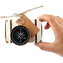 20-piece-compass-gift-suitcase-favor-boxes Best Nautical Wedding Favors You Can Buy