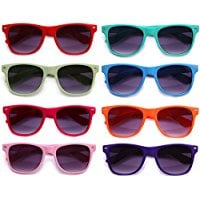 8-Pack-Blue-Brothers-Horned-Rimmed-Wayfarer-Fashion-All-Colors Best Sunglasses Wedding Favors You Can Buy