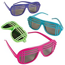 Neon-80s-Style-Sunglasses Best Sunglasses Wedding Favors You Can Buy