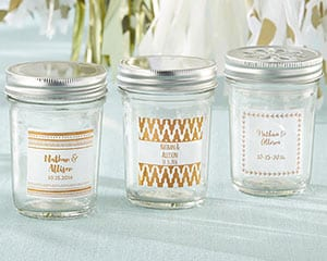 Personalized-Copper-Foil-Mason-Jar Best Mason Jar Wedding Favors You Can Buy