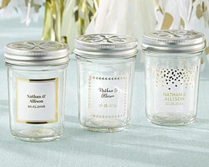 Personalized-Gold-Foil-Mason-Jar Best Mason Jar Wedding Favors You Can Buy