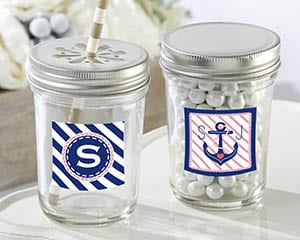 Personalized-Nautical-Bridal-Glass-Mason-Jar Best Mason Jar Wedding Favors You Can Buy