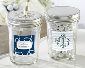 Personalized-Nautical-Wedding-Mason-Jar Best Mason Jar Wedding Favors You Can Buy