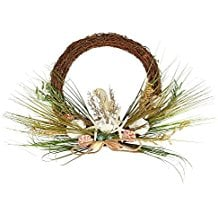 beach-nautical-round-brown-wreath-135 Beautiful Outdoor Beach Wreaths For Your Door