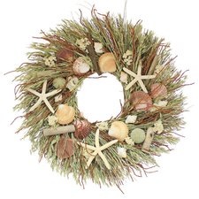 delray-beach-seashells-wreath-22 Beautiful Outdoor Beach Wreaths For Your Door