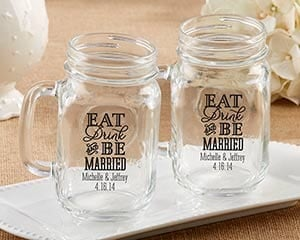 eat-drink-and-be-married-mason-jar-mug-favors-16oz Best Mason Jar Wedding Favors You Can Buy