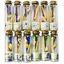 glass-seashell-wishing-cork-bottles Best Nautical Wedding Favors You Can Buy