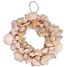 mixed-natural-seashell-wreath Beautiful Outdoor Beach Wreaths For Your Door