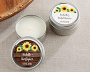 personalized-sunflower-candle-tin Best Candle Wedding Favors You Can Buy