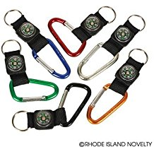 rock-clip-keychains-with-compass Best Nautical Wedding Favors You Can Buy
