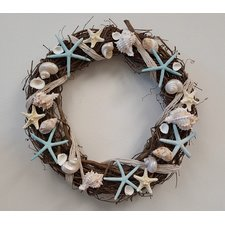 seashell-wreath-18 Beautiful Outdoor Beach Wreaths For Your Door
