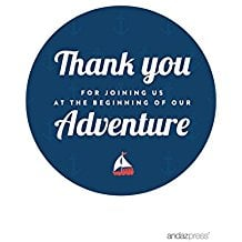 thank-you-boat-stickers Best Nautical Wedding Favors You Can Buy