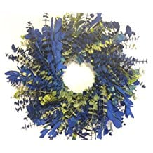 tropical-macaw-eucalyptus-wreath Beautiful Outdoor Beach Wreaths For Your Door