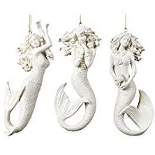 3-mermaid-coastal-ornaments Amazing Mermaid Christmas Ornaments