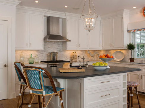 A-Colorful-Cottage-Makes-a-Splash-by-Dujardin-Design-Associates-Inc 101 Beautiful Beach Cottage Kitchens