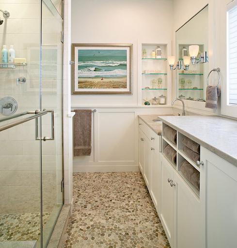 Amagansett-Beach-Retreat-by-Kitchens-and-Baths-Linda-Burkhardt 101 Beach Themed Bathroom Ideas