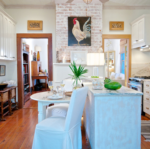 Beach-Style-Kitchen-Cottage 101 Beautiful Beach Cottage Kitchens