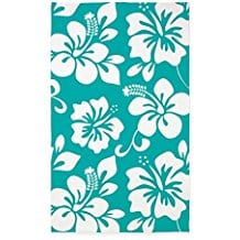 CafePress-Turquoise-Hawaiian-Hibiscus-area-rug Outdoor and Indoor Tropical Area Rugs