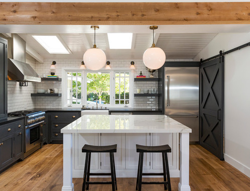California-Beach-Cottage-by-Louk-Enterprise-Inc 101 Beautiful Beach Cottage Kitchens