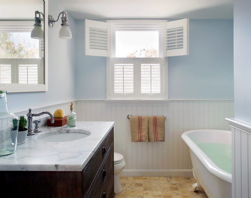 Cape-Cod-Renovation-by-Kelly-McGuilll-Home 101 Beach Themed Bathroom Ideas
