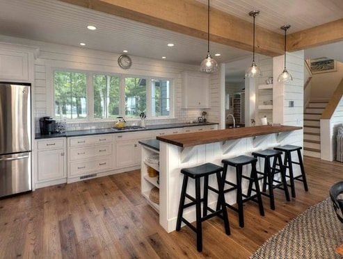 Classic-White-Cottage-by-Kitchen-Choreography 101 Beautiful Beach Cottage Kitchens